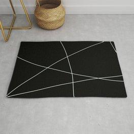 Black and White Minimalist Lines Rug