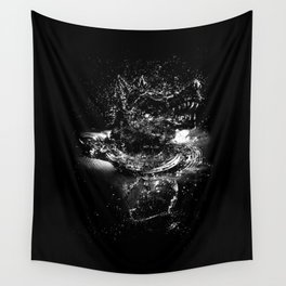 WATER WOLF Wall Tapestry