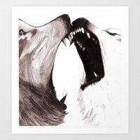 The Fight Art Print