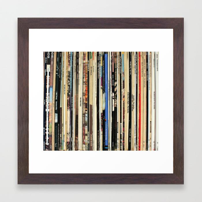 Classic Rock Vinyl Records Framed Art Print