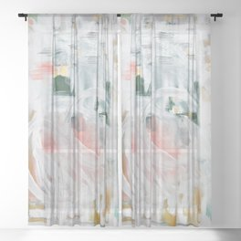 Emerging Abstact Sheer Curtain