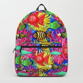 Fish Cute Colorful Doodles Backpack