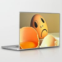eggs Laptop & iPad Skins featuring eggs by  Agostino Lo Coco