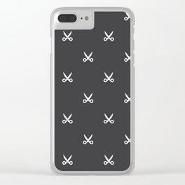 Scissors pattern Clear iPhone Case