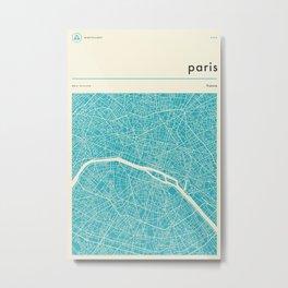 PARIS MAP Metal Print