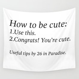 Useful Tips #1 Wall Tapestry