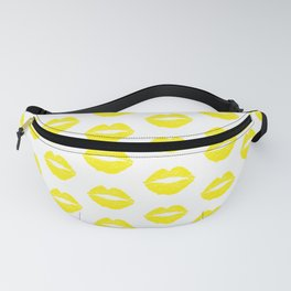 Yellow Lips Fanny Pack