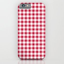 Rustic - Red Gingham iPhone Case