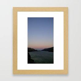 (#99) Dusk on the River Framed Art Print