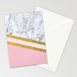 St Lucia striped blush marble Stationery Cards