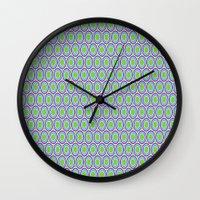 monsters inc Wall Clocks featuring Monsters, Inc. Circle Pattern by Jennifer Agu