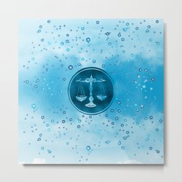 Libra Zodiac Sign Air Element Metal Print