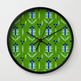 Blueberry pattern - By Matilda Lorentsson Wall Clock