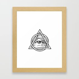 Illuminati Triangle Framed Art Print