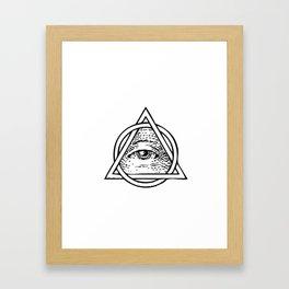 Illuminati Triangle Framed Art Print