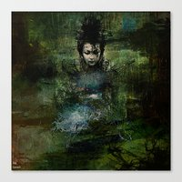 chinese Canvas Prints featuring Chinese shade by Ganech joe