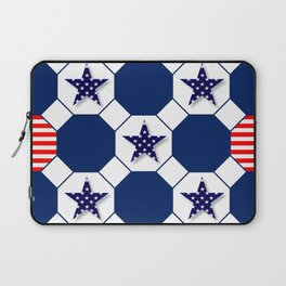 Nautical Patriotic Hexagons Laptop Sleeve
