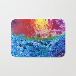 Sunset over the Sea Bath Mat