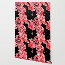 Red Flower Field Wallpaper