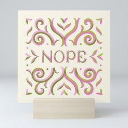 Nope - Light Mini Art Print
