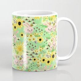 Cute Summer Bunnies Coffee Mug