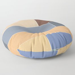 The Decay of Color Floor Pillow