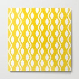 Retro Ogee Pattern 457 Yellow Metal Print