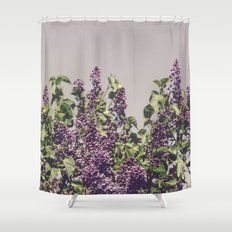 Wild Lilacs Shower Curtain