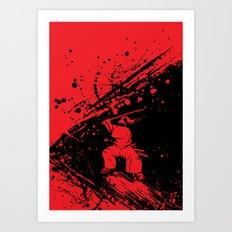 Samurai Slash Art Print