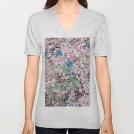Shine : cherry blossom Unisex V-Neck