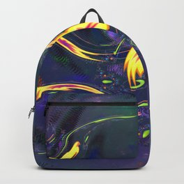 Yellow Amoebas with Ribbons 0001c Backpack