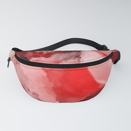 Red and Pink Snapdragons Floral Abstract Fanny Pack