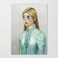 kawaii Canvas Prints featuring Kawaii by Lek Chan