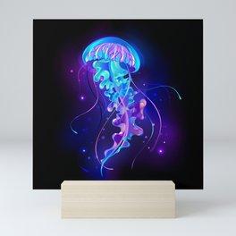 Large Glowing Jellyfish Mini Art Print