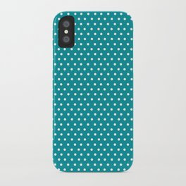 Dots & Teal iPhone Case
