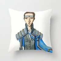 knight Throw Pillows featuring Knight by Eugene Frost