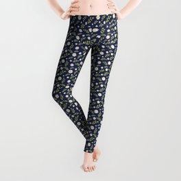 Blue Daisies Leggings