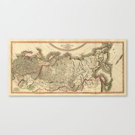 Map of Russian Empire 1799 Canvas Print
