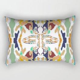 Spirit Eye on Teal,Gold,Navy,Aqua,White,Red,Orange Rectangular Pillow