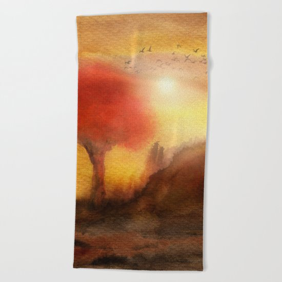 Calling The Sun XIII Beach Towel