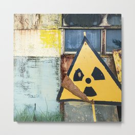 Nuclear Warning Metal Print