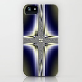 Fractal Cross iPhone Case