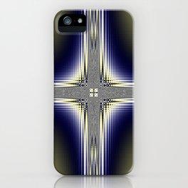 Fractal Cross iPhone Case