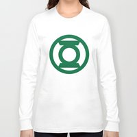 green lantern Long Sleeve T-shirts featuring Green Lantern  by Evan Krushelnycky