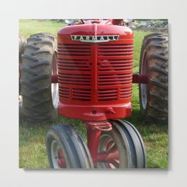 Red Farmall Tractor Metal Print