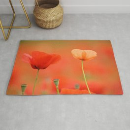 Two poppies 1873 Rug