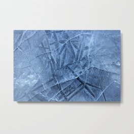 Cracked Ice Metal Print