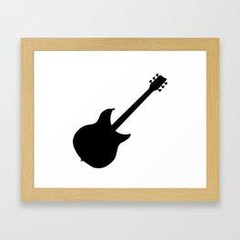 Electric Guitar Silhouette Framed Art Print