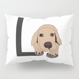 L is for Labrador Pillow Sham