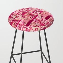 Pink Little Town Bar Stool
